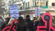 Manifestation contre la loi sur le handicap