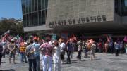 Téfal : Manifestation en soutien à l'inspectrice du travail