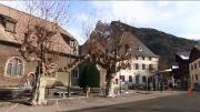 La place du village : Samoëns