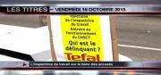 8 info - le JT du vendredi 16 octobre 2015