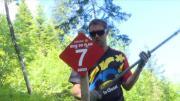 Préparation des pistes de VTT pour l'été à la Clusaz