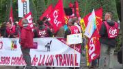 Manifestations anti-loi travail pour la venue de François Hollande