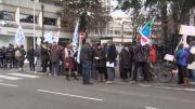 Mobilisation des professeurs à Annecy