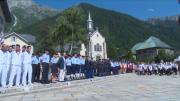 Les équipes de France célèbrent le 14 juillet à Chamonix