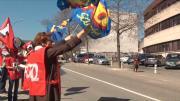 Hôpital de Chambéry : Manifestation contre l'austérité
