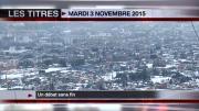 8 info - le JT du mardi 3 novembre 2015