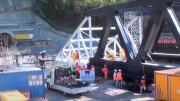 CEVA : Le pont sur l'Arve enfin en place